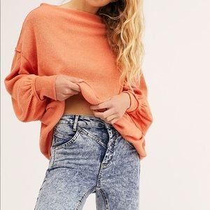 NEW Free People We the Free Main Squeeze Hacci Top